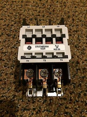 New GE Definite Purpose Contactor CR453AB3AAA 110-120V Coil 25A 3 Poles
