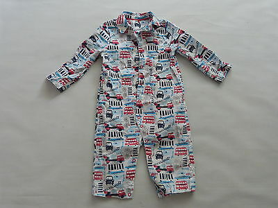 Baby Boys all in one pyjamas cars printed sleepsuit size 9-12 Months