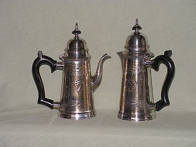 Antique Silver Plated Tea and Water Jugs