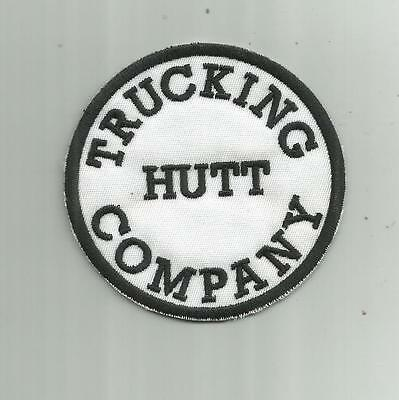 Vintage Hutt Trucking Company Patch Truck Driver Transport Freight Holland Mi