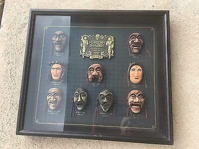 Hahoe Byulshinkut Framed Shadow Box Miniature Theater Mask Korean Collection Tal