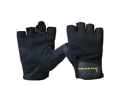 Gold's Gym Weight Lifting Gloves Training Bodybuilding Fitness workout Black
