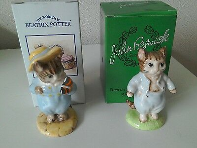 Beswick/Royal Albert Beatrix Potter 2 x figurines