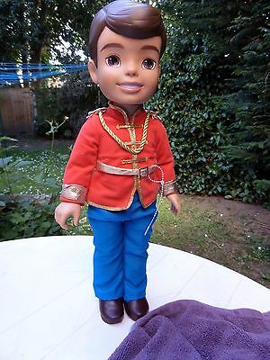 Large Prince Charming, Cinderella doll, used, good condition.