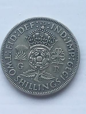 1939 George Vi  Coin - Two Shillings Nice Condition