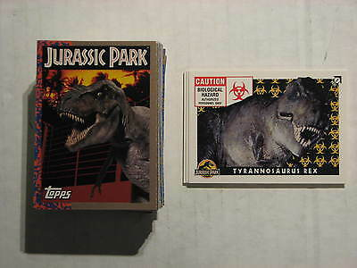 Jurassic Park -1993 Topps, Complete Set 88 cards + 11 stickers, Excellent cond.
