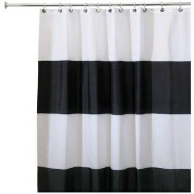 Interdesign 26930 Zeno Waterproof Fabric Shower Curtain 72 X 84 Black