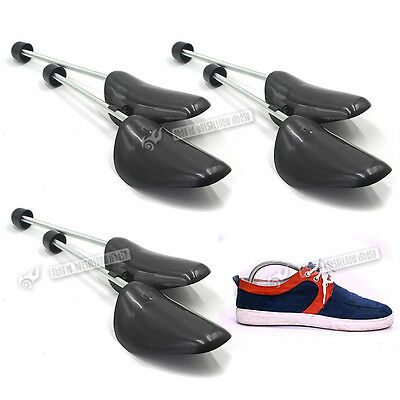 3 x PAIR SHOE TREE TREES PLASTIC MAINTAIN SHAPE OF SHOES FOOTWEAR ONE SIZE NEW