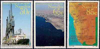 Namibia 1994 MNH Walvis Bay Ship Map Crane combined postage