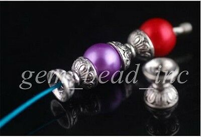 20Pcs Charms Tibetan Silver Bracelet Crafts Finding Spacer Beads Caps 10x9mm