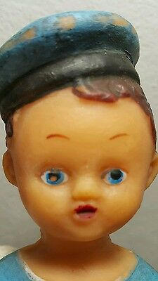 VINTAGE DOLL TOY SAILOR SEAMAN 1960's RUBBER MADE COMMUNIST RUSSIA CCCP USSR