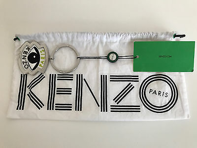 Authentic Kenzo Eye Logo Key Chain Holder Fob with dust bag