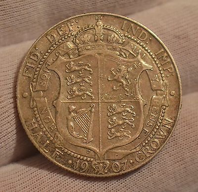 1907 King Edward VII SILVER Half-Crown    Nice condition