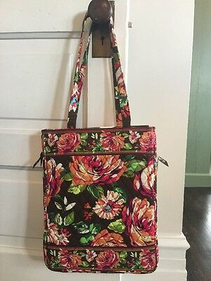 Vera Bradley Flowers Soft Sided Laptop Computer Bag