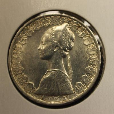1965 Republic Italy 500 lire silver coin  gorgeous K1613b