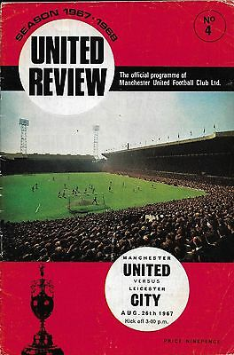 1967/68 Manchester United V Leicester City Euro Cup Season