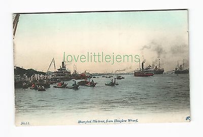 c1910 japanese PPC Shanghai Harbour from Hongkew Wharf No41 dragonfly