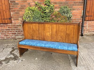 Lovely Pitch Pine Church Pew Bench...