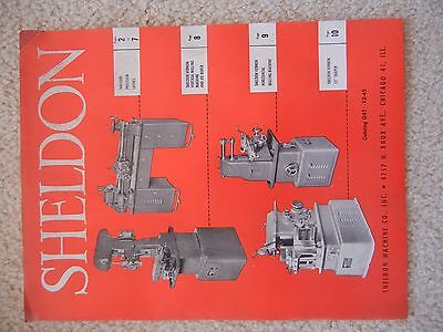 Sheldon Machine Co Brochure ~ Lathes, Milling Machines & Shaper Catalog