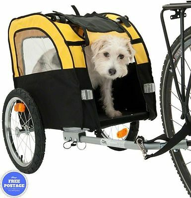 Bike Trailer Pushchair Small Dog Carrier Stroller Jogging Kit Pet Bicycle Ride