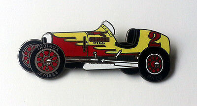 Gilmore Oil RED LION Race Car Pin Pinback Racing Checkered Flag INDY 500 Gas