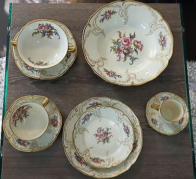 Rosenthal Diplomat Sanssouci Germany Ivory Gold China Large Set