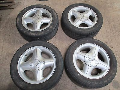 SET OF 4, 14'' FORD FIESTA MK 4, 4 Spoke Alloy Wheels And Tyres