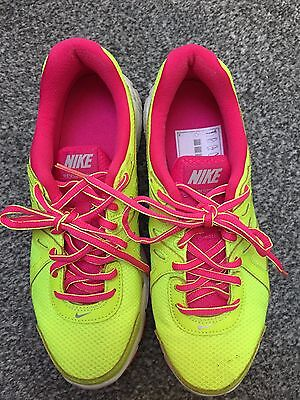 Ladies Women Nike trainers UK SIZE 5 - Excellent Condition -Yellow and Pink