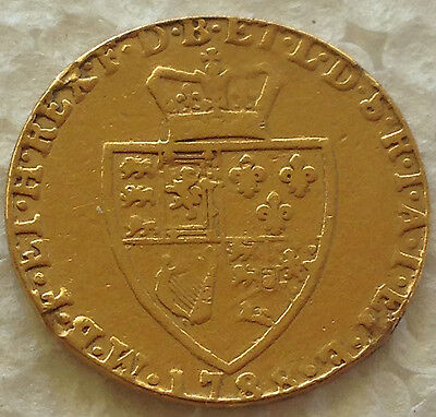1788   full Guinea gold coin 22 ct gold lot  #76