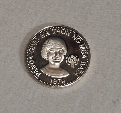1979 Philippines International Year of the Child Silver Proof Coin