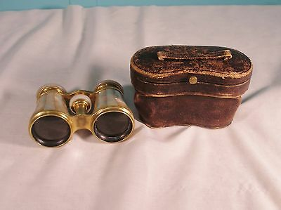 Vintage  T M J.B.L Mother Of Pearl. Opera Glasses With Case