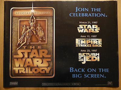 THE STAR WARS TRILOGY (1997) - original UK quad film/movie poster, sci-fi, space