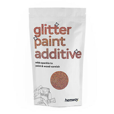 Hemway Rose Gold Holographic Glitter Paint Additive 100g for Emulsion Walls DIY