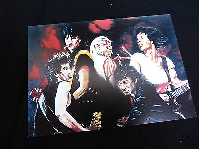 Rolling Stones / Ronnie Wood - Official Ronnie Wood Art Promotion Card - 1995 Uk