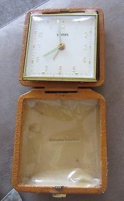 Vintage Smiths Travel Alarm Clock Ticks when wound but in need of TLC