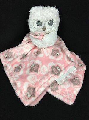 Blankets and Beyond Girl Pink Owl Security Blanket Lovey Pacifier Soft Plush
