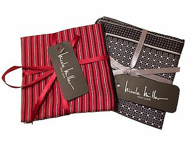Pair of Nicole Miller Silk Pocket Squares Mr Porter RRP £60