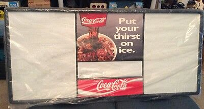 Vintage Coca Cola 4ft MENU BOARD Letter Display 4' Advertising Sign Coke Soda 92