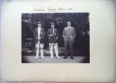 "HAMPSHIRE 1921 TENNYSON, MEAD & BROWN ORIGINAL SIGNED 8"" x 6"" CRICKET PHOTOGRAPH"
