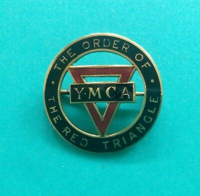 The  Vintage Ennameled 9K Gold Ymca Pin .