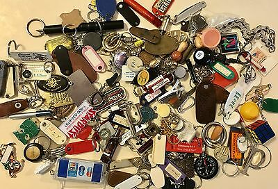 Vintage Key Chains Lot Over 3.5lbs Many Unusual Mid Century