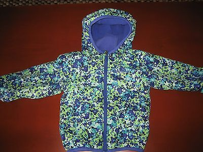 ~COLUMBIA~ Infant Girl's Floral Fleece Lined Hooded Windbreaker Jacket Sz 12-18M