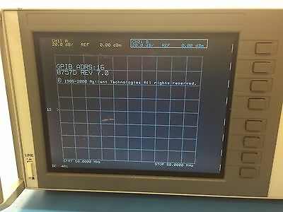 Agilent 8757D Scalar Network Analyzer Serial Number 4047A06985 *LCD*