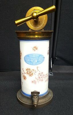 Antique Douche Irrigator Paris London Porcelain Brass Original Box Birth Control