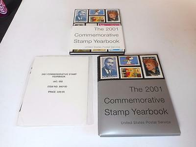 The USPS 2001 Stamp Yearbook w/ Sealed Stamps & Mounts in Slipcover