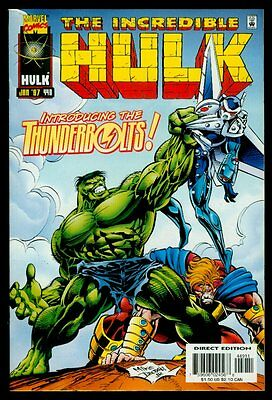 Marvel Comics The Incredible HULK #449 1st Appearance THUNDERBOLTS VFN/NM 9.0