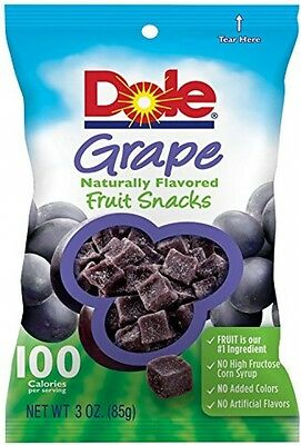 Dole Fruit Snacks, Grape, 3 Ounce (Pack Of 8)