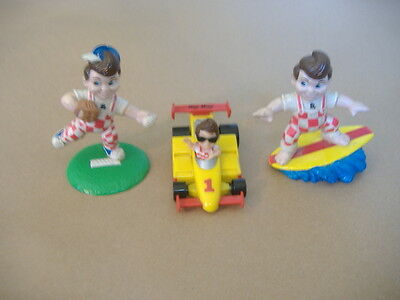 Bob's Big Boy Restaurant PVC Toy's Race Car 1990 Elias Brothers baseball surfer