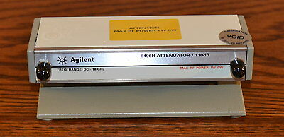 Agilent 8496H Programmable Step Attenuator DC-18Ghz, 0-110db, opt 002 SMA Late