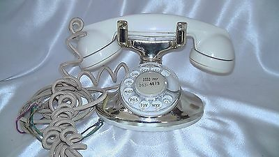 Vintage 1952 Brass Deco Model 202 Bell System Western Electric Rotary Phone D1